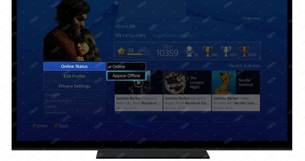 تغییر وضعیت آنلاین به Appear Offline در PS4