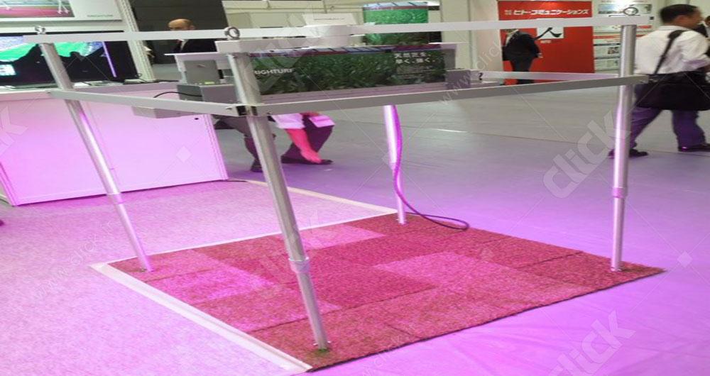 رشد سریع چمن با نور LED