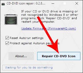 بازگردانی آیکون درایو ناپدید شده CD یا DVD در ویندوز