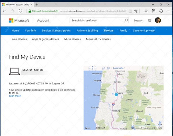 find-my-device-map
