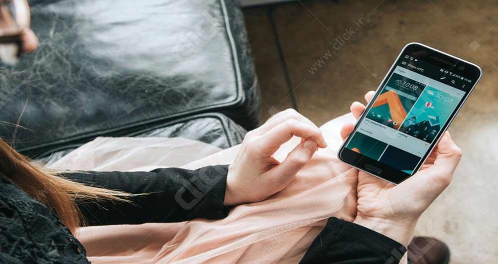 تصویری از نمای گوشی اچ تی سی 10