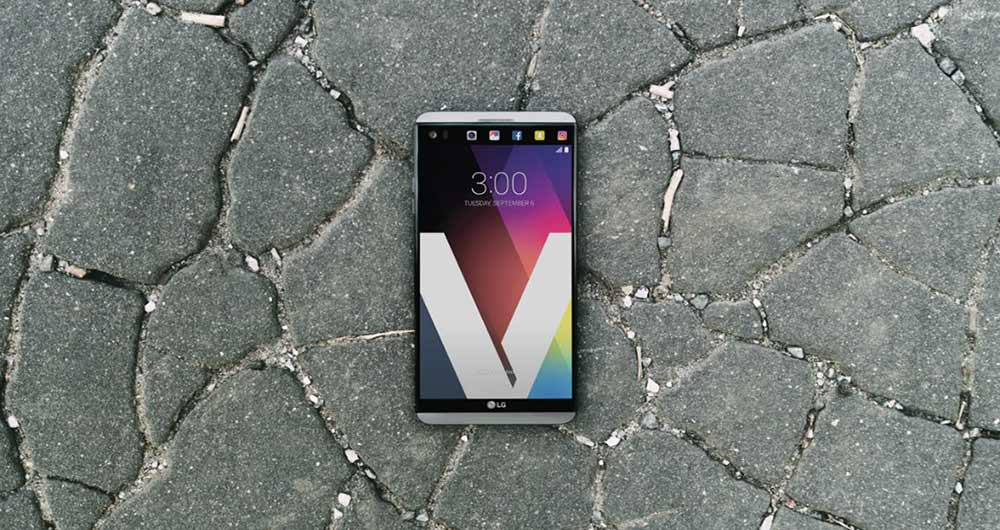تست خراش، خمش و سوزاندن گوشی LG V20
