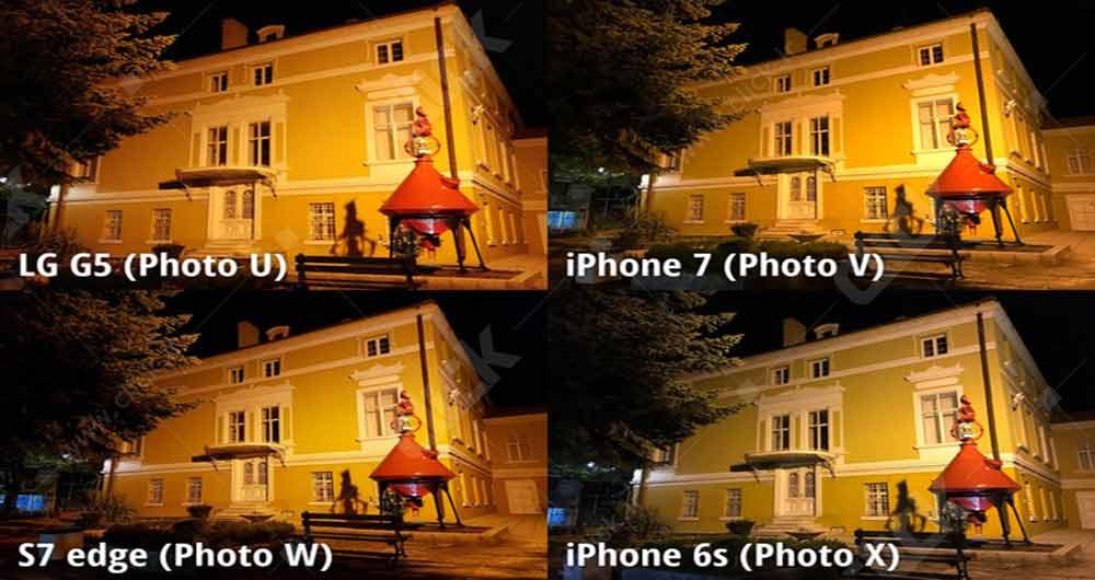 نمای یک ساختمان در شب