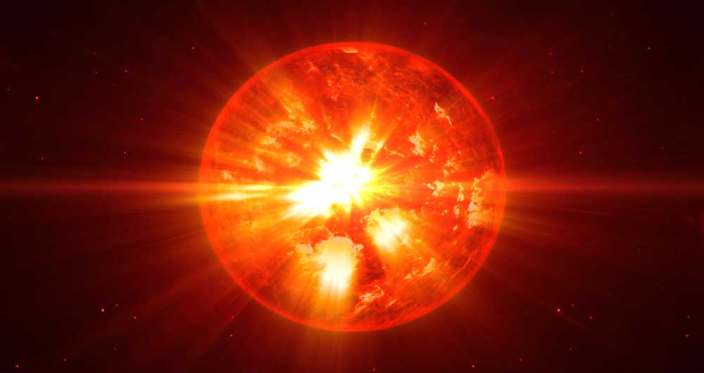 پرتاب توپ های پلاسمایی از ستاره ای در حال مرگ