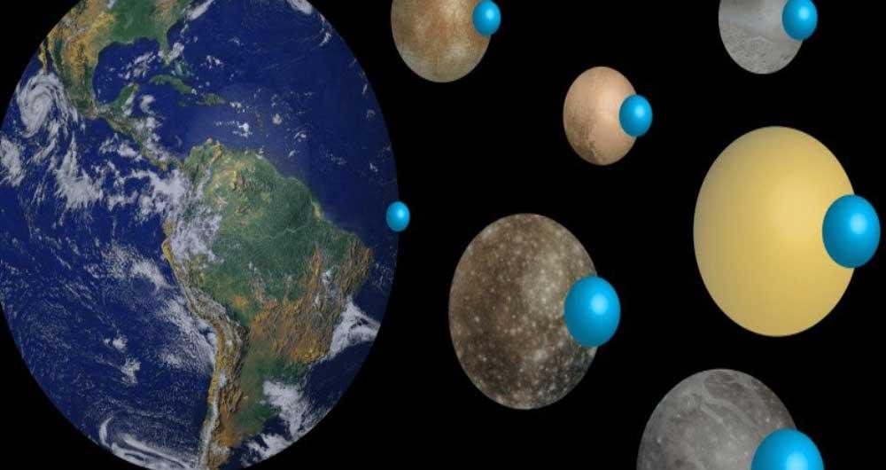 بزرگ ترین اقیانوس سیارات منظومه شمسی کدام است؟