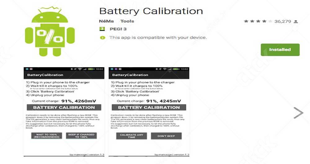 کالبیره کردن باتری گوشی