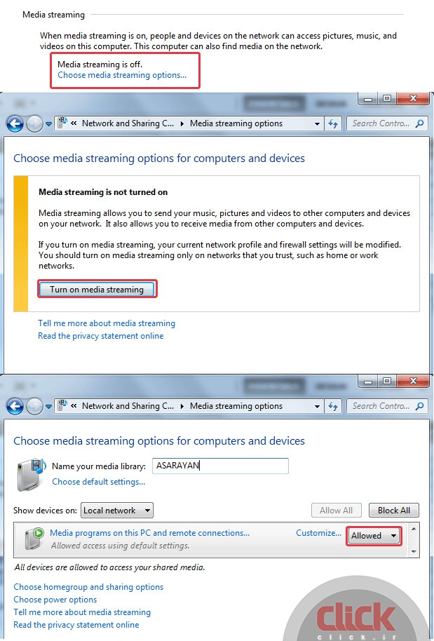 X How two computers in Windows 7