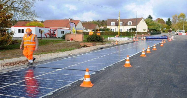 جادههایی که با پنل خورشیدی فرش میشوند