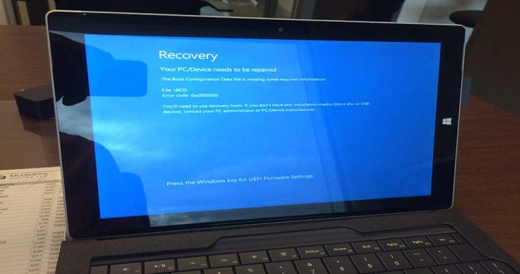 "پیام "" recovery: boot configuration data missing"""