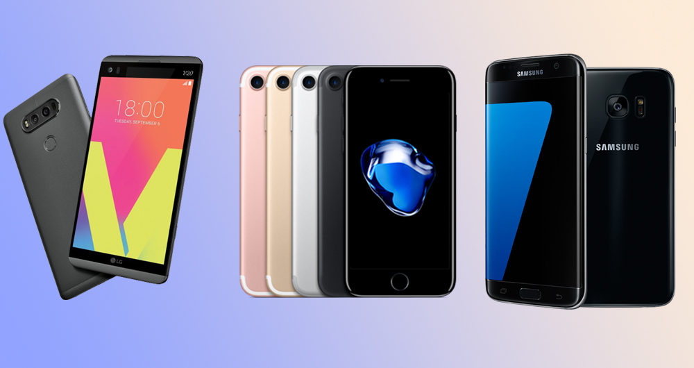 مقایسه همهجانبه LG V20 و Galaxy S7 Edge و آیفون ۷