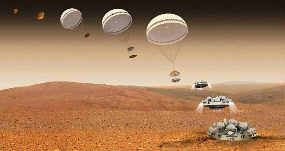 تصاویر جدید از کاوشگر اروپایی منهدم شده در مریخ
