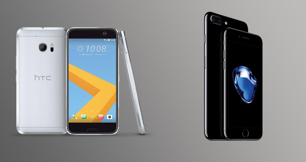 مقایسه اسپیکرهای آیفون 7 با HTC 10