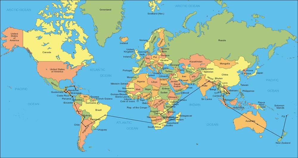 رونمایی از نقشه دقیق و عجیب جهان