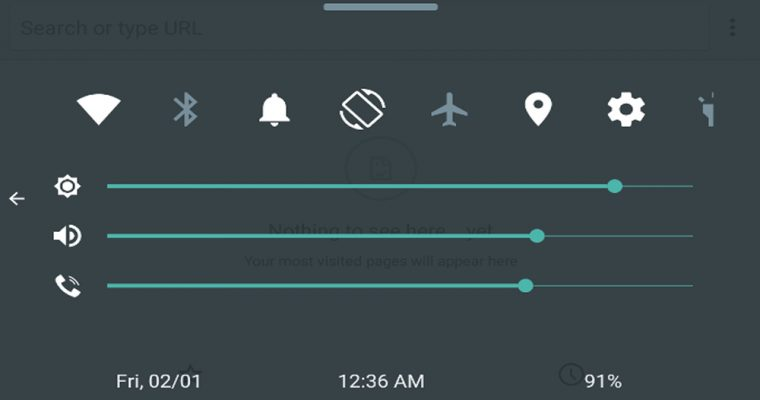 اپلیکیشن Quick Control Panel، دسترسی سریع شبیه به iOS برای اندروید