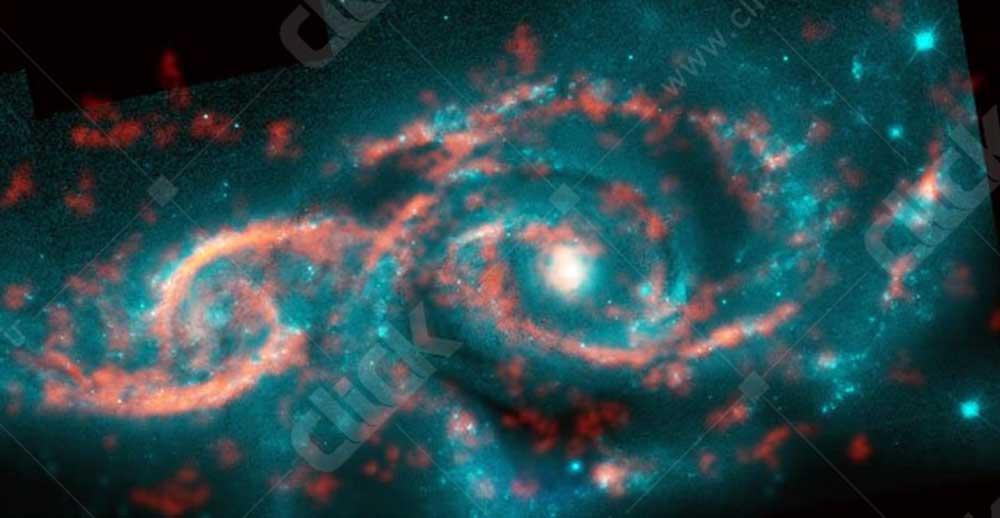 دو کهکشان متصادم