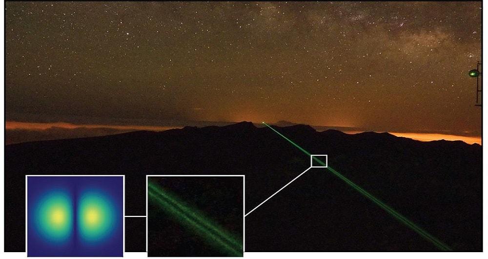 ارتباط بین دو جزیره از طریق نور با ارسال پیام 'سلام جهان'