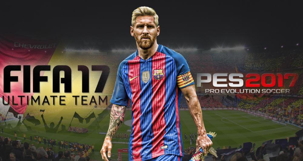 لیونل مسی در FIFA 17 بهتر است یا PES 2017؟