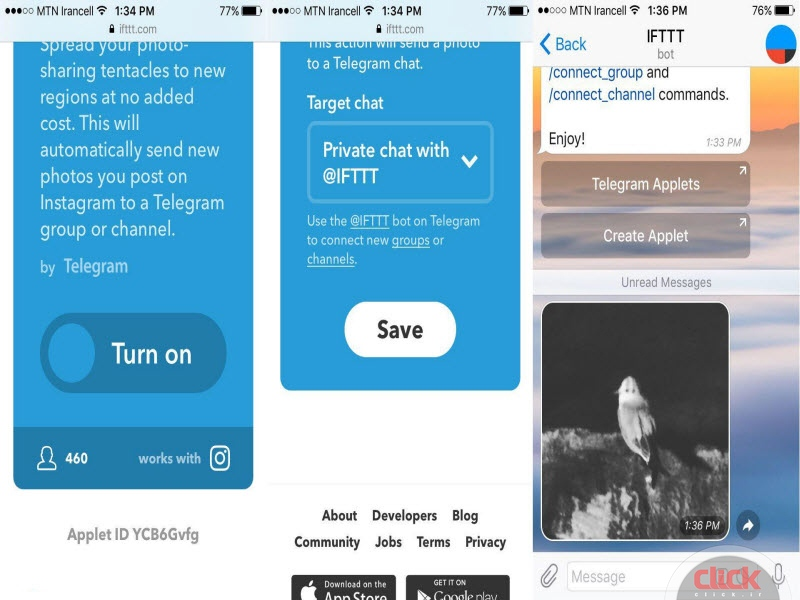 ربات IFTTT در تلگرام