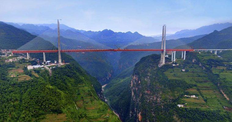 تماشا کنید؛ مرتفع ترین پل جهان در چین افتتاح شد