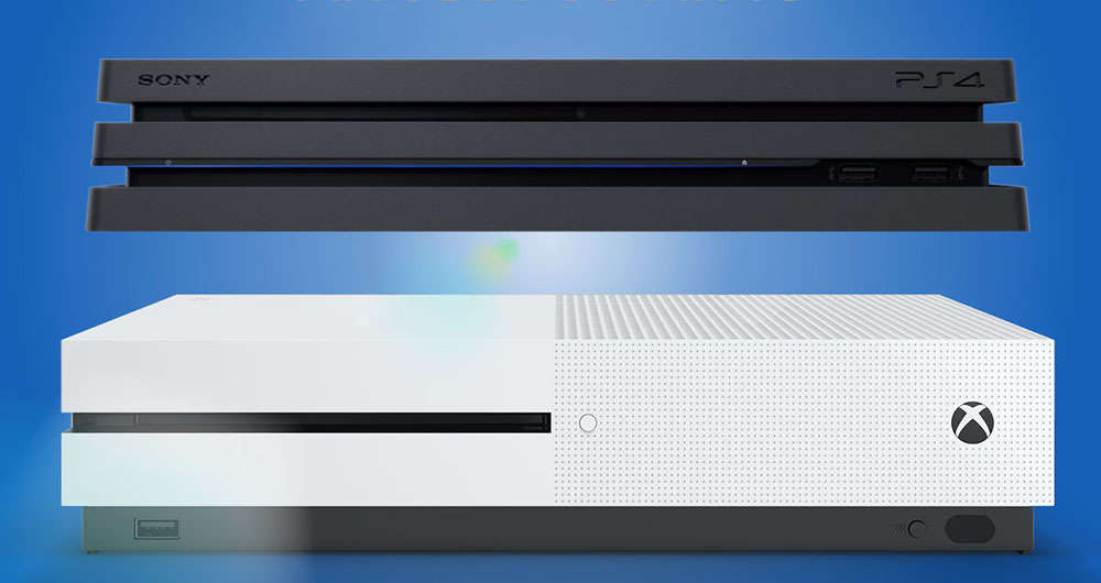 صف آرایی Xbox One S و PS4 Pro در مقابل هم