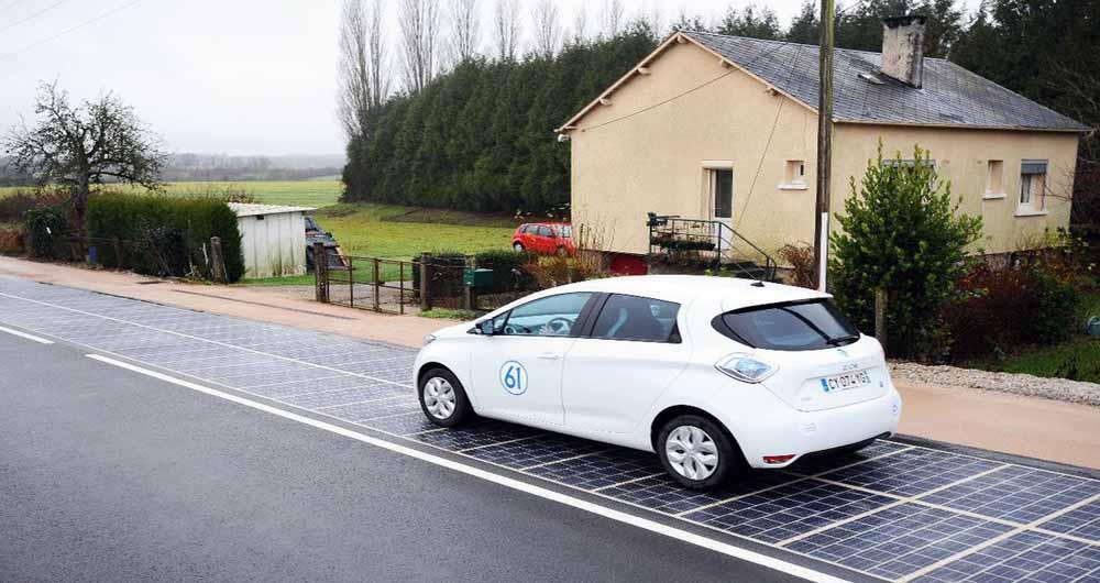 استفاده از پنل های خورشیدی در جاده های فرانسه برای اولین بار در جهان