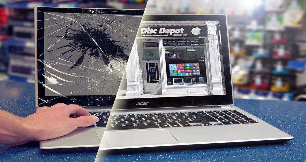 اگر صفحه نمایش لپ تاپ شکست چه باید کرد؟