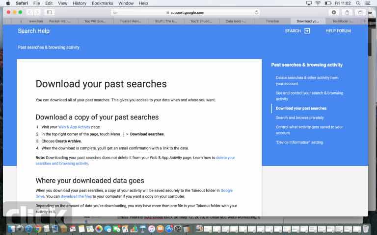 روش دسترسی به تاریخچه گوگل