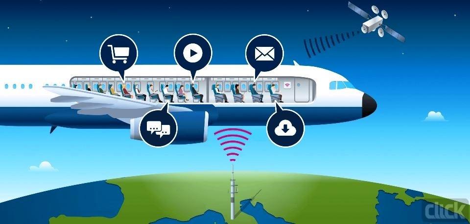 اینترنت پرسرعت در هواپیما با مشارکت دویچه تلکام و اینمارست