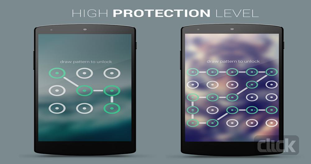 از رمز های الگویی برای محافظت از دستگاه خود استفاده نکنید