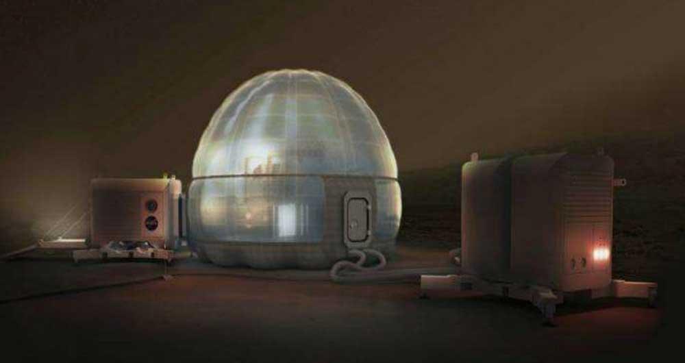خانه یخی مریخ