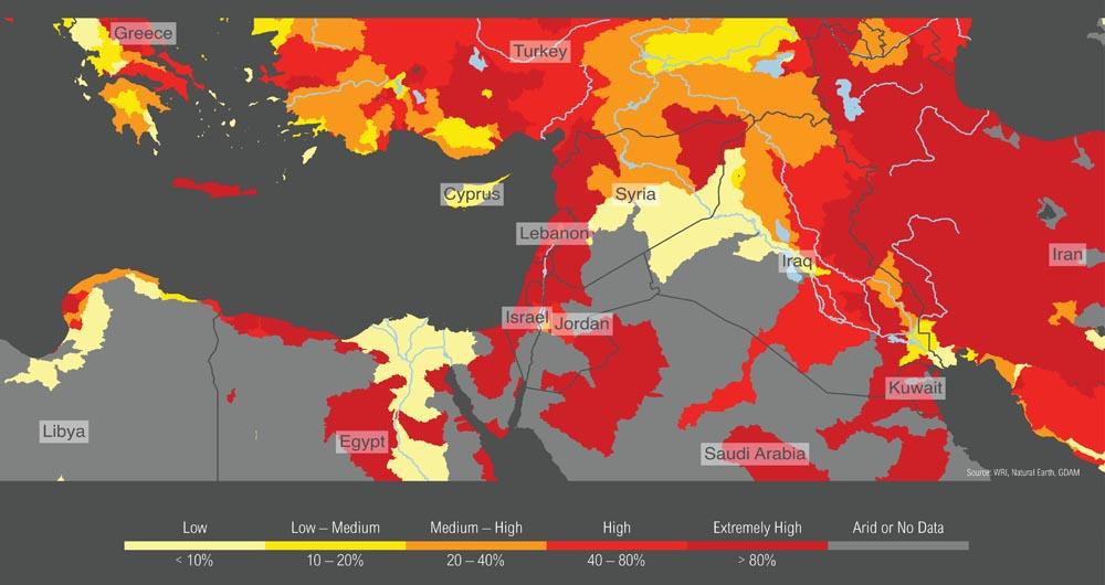 تاثیر جنگ سوریه بر بحران آب منطقه