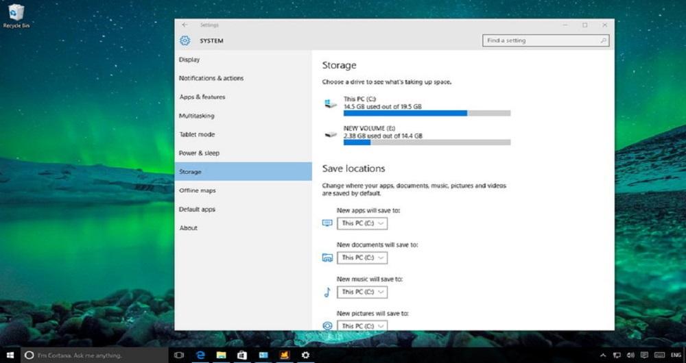 آموزش تصویری آزاد کردن فضای هارد دیسک در ویندوز ۱۰