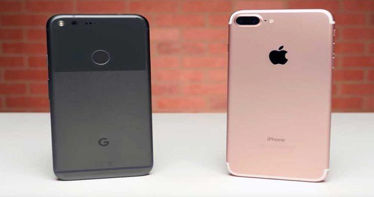 مقایسه حالت عکسبرداری پرتره در گوشی آیفون 7 پلاس و Pixel XL گوگل