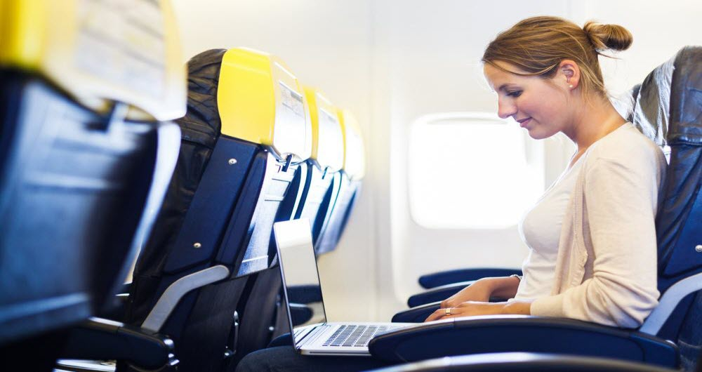 Participation in the plane with high-speed Internet