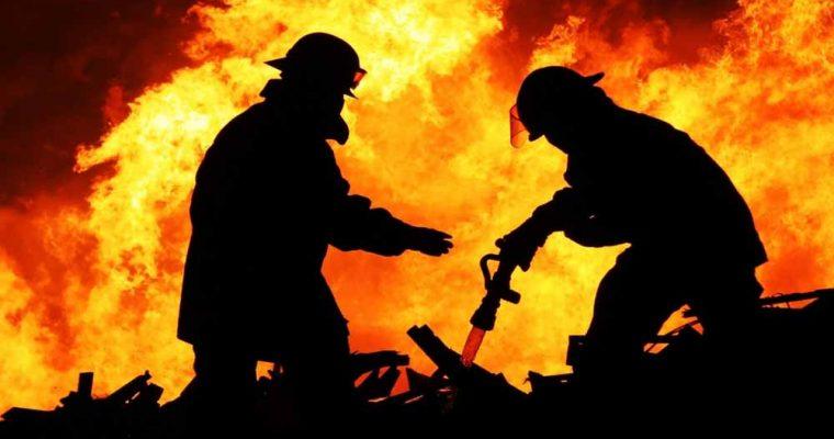 آتش نشان ها در گوشی