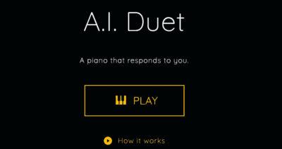 با A.I. Duet گوگل، پیانو بنوازید