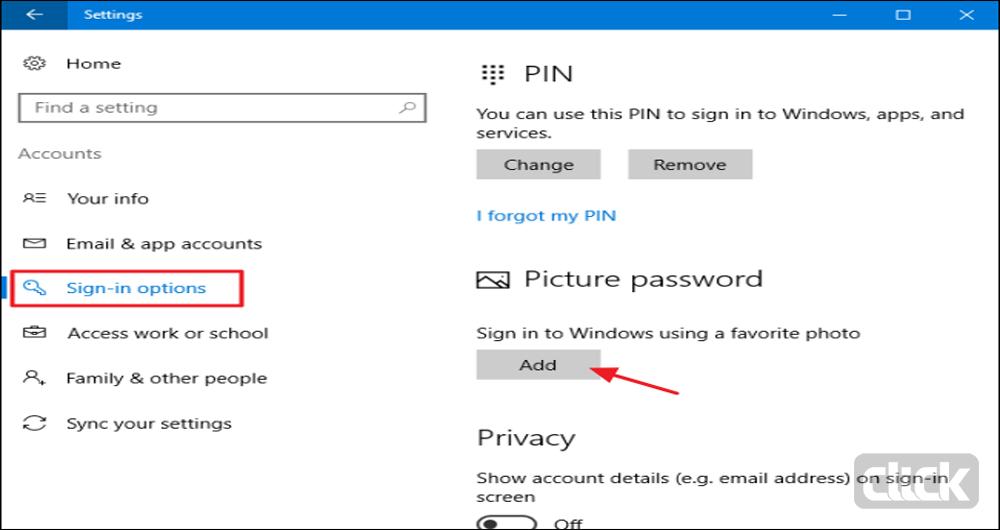 چگونه بر روی ویندوز 10 رمز تصویری بگذاریم؟