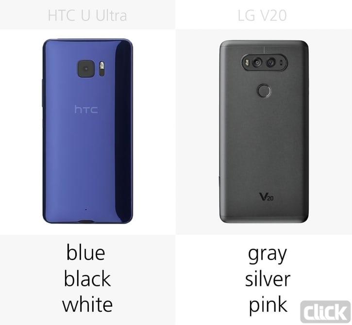 نگاهی کلی به دو گوشی LG V20 و HTC U Ultra امکانات و ویژگی ها