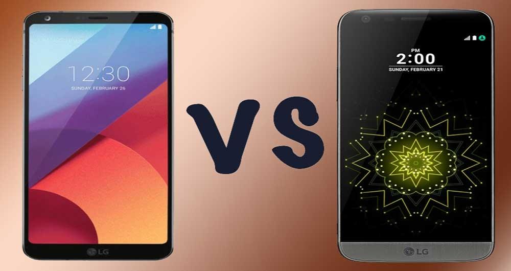 مقایسه گوشی های G6 و G5 ال جی