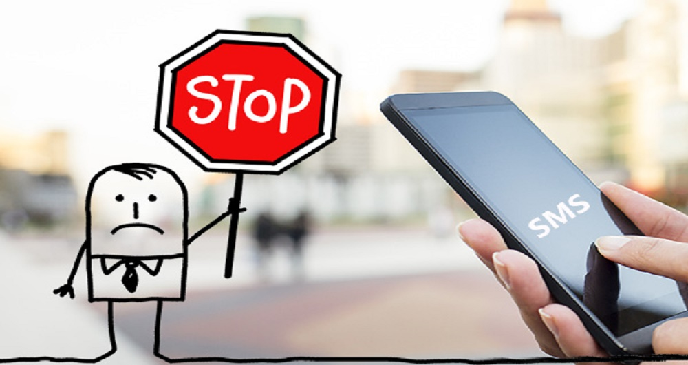 how to stop receiving sms from a number