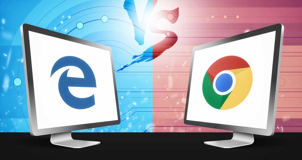 مایکروسافت اج در مقابل گوگل کروم