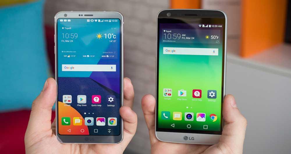 مقایسه کامل G6 و G5 ال جی