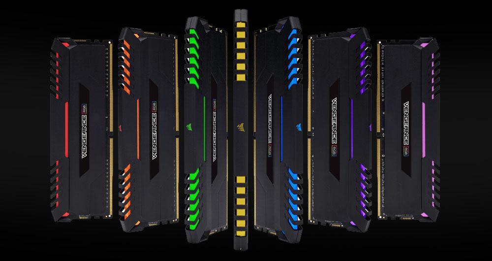 رونمایی از رم های گیمینگ DDR4 و چراغ دار شرکت کورسیر