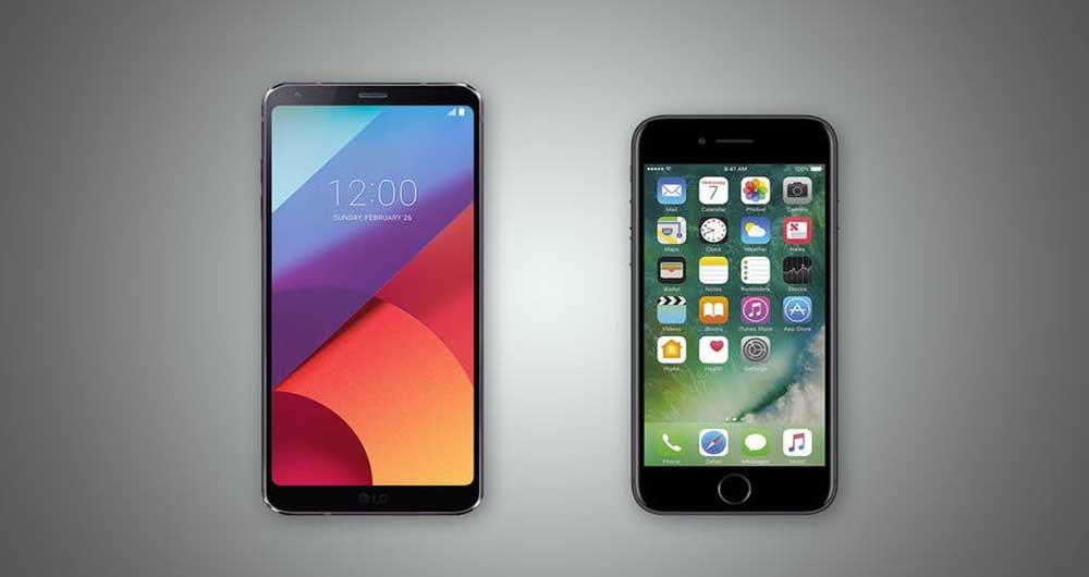 مقایسه G6 با iPhone 7