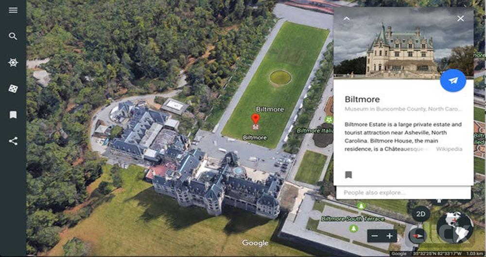 گوگل ارث، قابلیت نمایش نقشههای سه بعدی