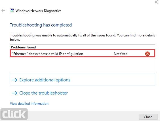 """چطور خطای Ethernet"""" doesn't have a valid IP configuration on Windows"""" را در ویندوز برطرف کنیم؟"""