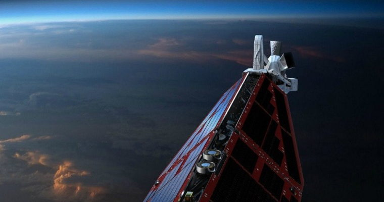 Front of Swarm satellite