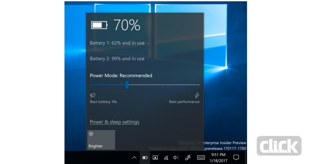 استفاده بهینه از باتری در آخرین بهروزرسانی ویندوز 10