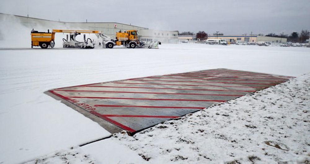 استفاده از بتون الکتریکی برای جلوگیری از یخ زدگی باند فرودگاه ها