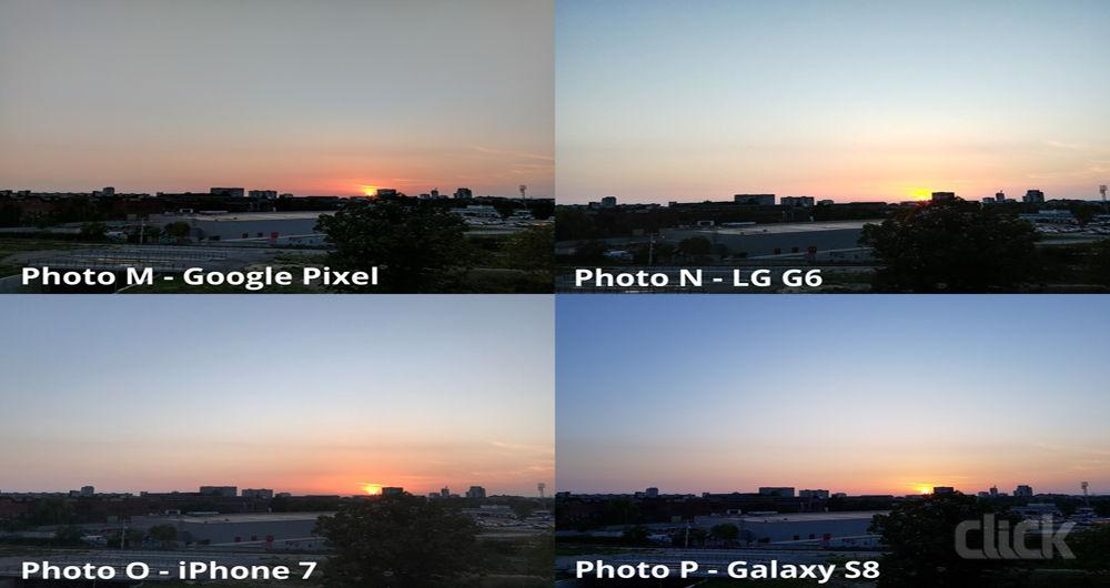 مقایسه همهجانبه دوربین ال جی G6، گلکسی S8، آیفون 7 و پیکسل